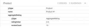 aggregate Rating Result