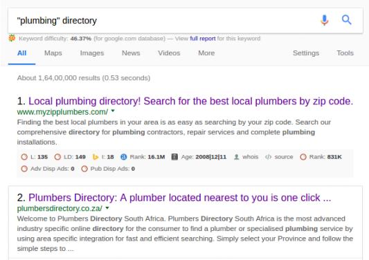 Plumbing Niche Directory