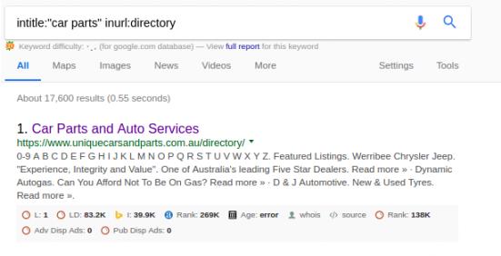 Directory Link Building